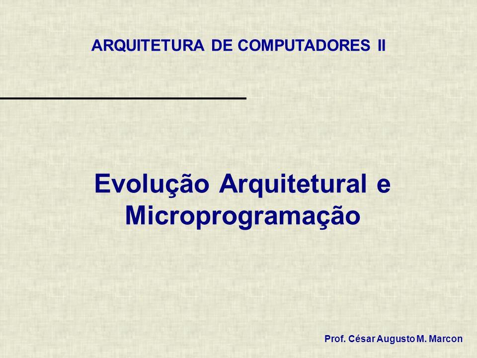 Evolução Arquitetural e Microprogramação Prof. César Augusto M. Marcon ARQUITETURA DE COMPUTADORES II