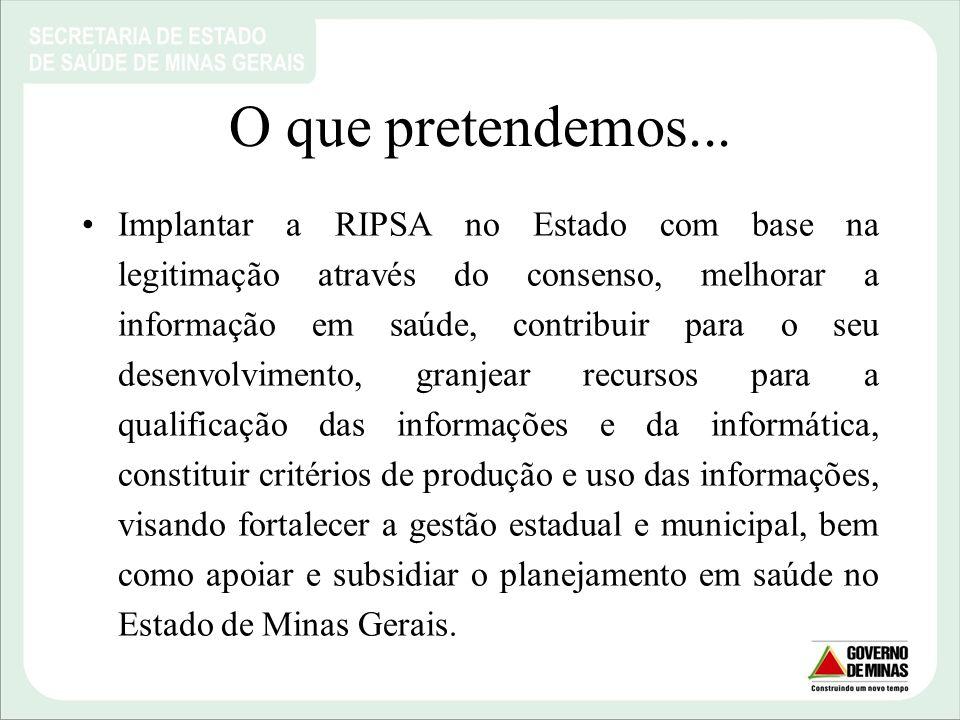 Municípios de Minas Gerais. Fonte: PDR- SES/MG