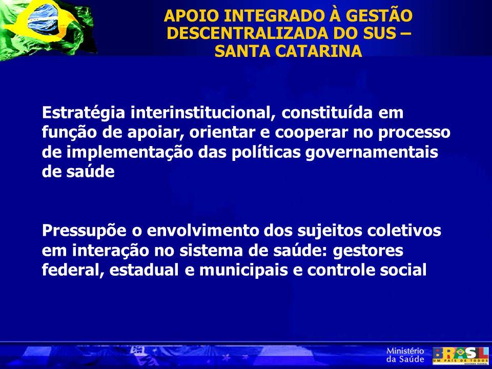 Estratégia interinstitucional, constituída em função de apoiar, orientar e cooperar no processo de implementação das políticas governamentais de saúde