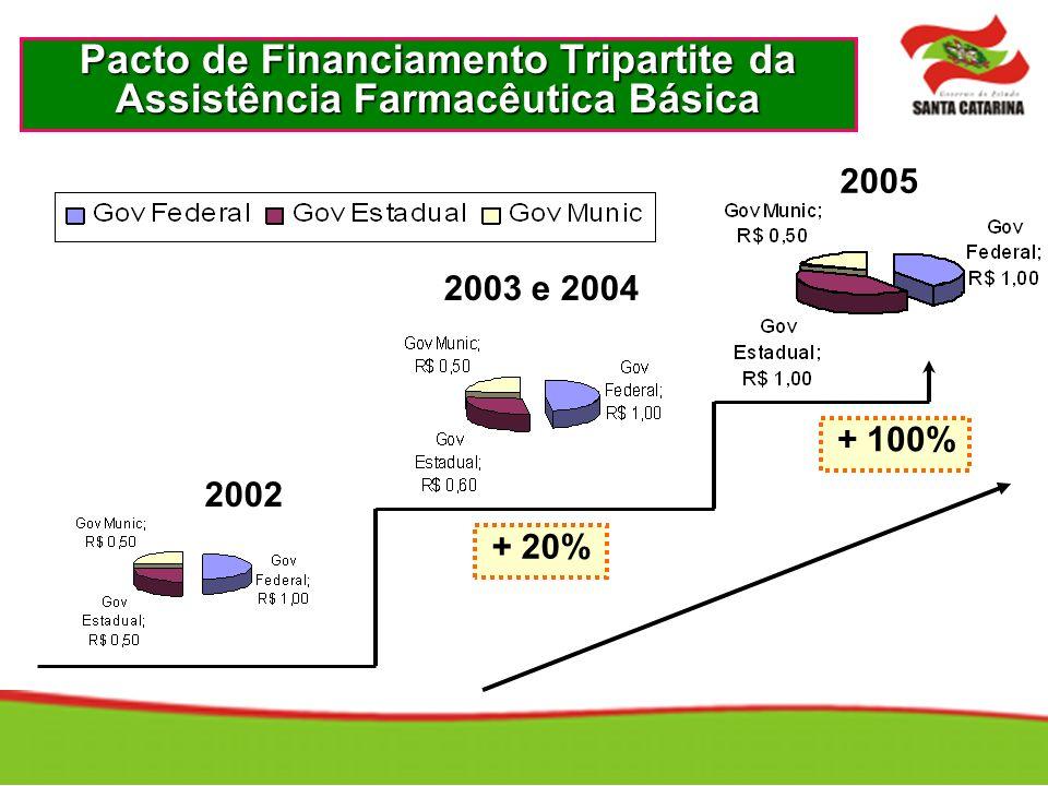 2002 2003 e 2004 2005 + 20% + 100%