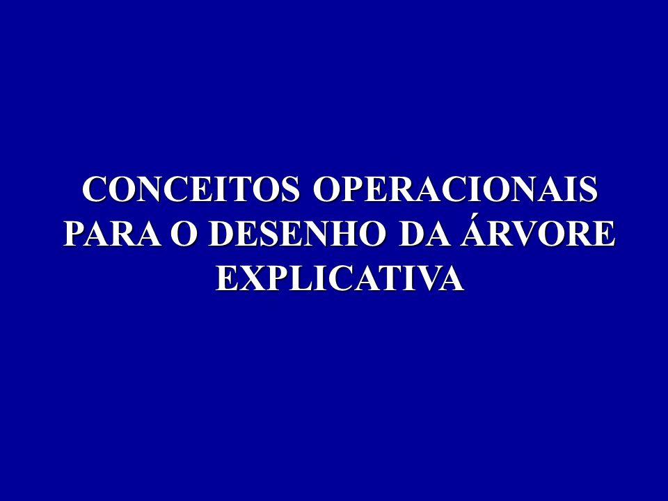 CONCEITOS OPERACIONAIS PARA O DESENHO DA ÁRVORE EXPLICATIVA
