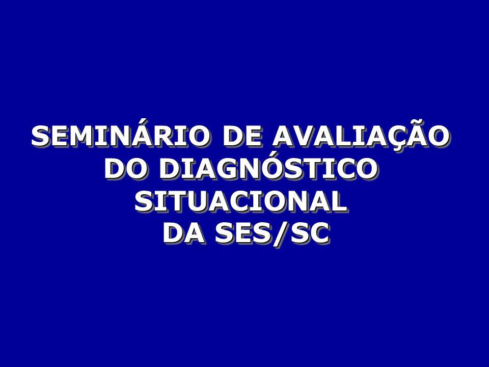 SEMINÁRIO DE AVALIAÇÃO DO DIAGNÓSTICO SITUACIONAL DA SES/SC