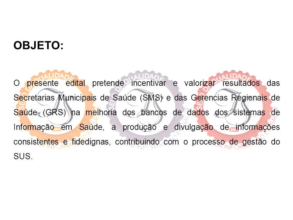 FORMA DE PARTICIPAÇÃO: Participarão todos os Municípios e as Gerências Regionais de Saúde do Estado de Minas Gerais.