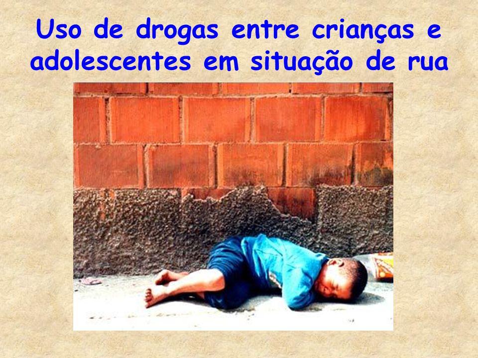 Uso de drogas entre crianças e adolescentes em situação de rua