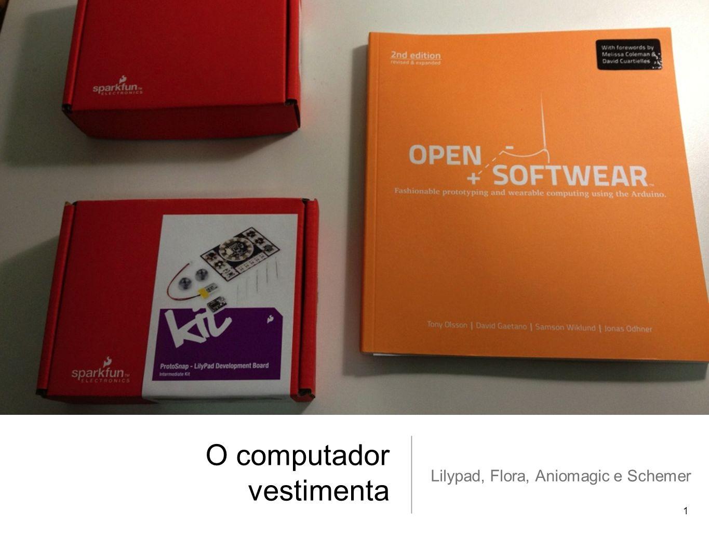 O computador vestimenta Lilypad, Flora, Aniomagic e Schemer 1