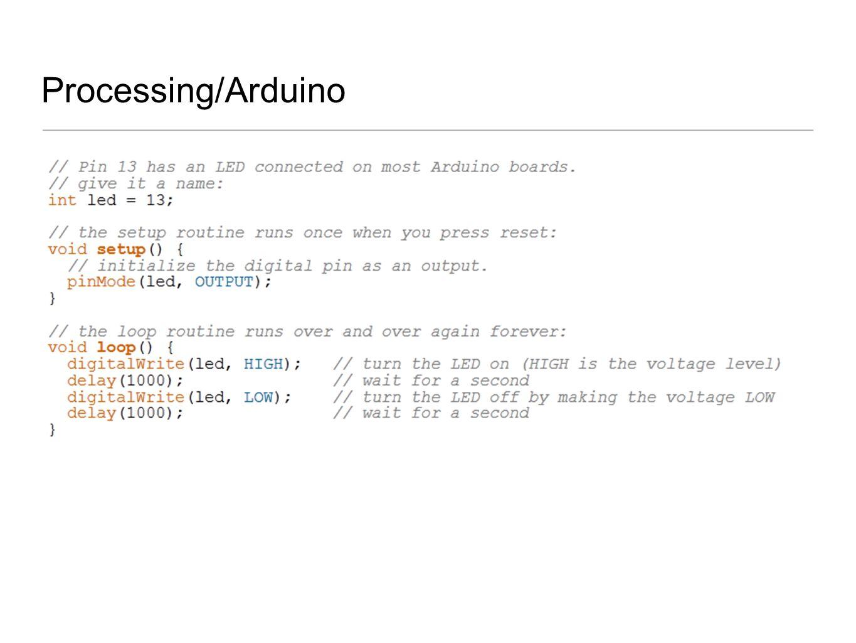Processing/Arduino