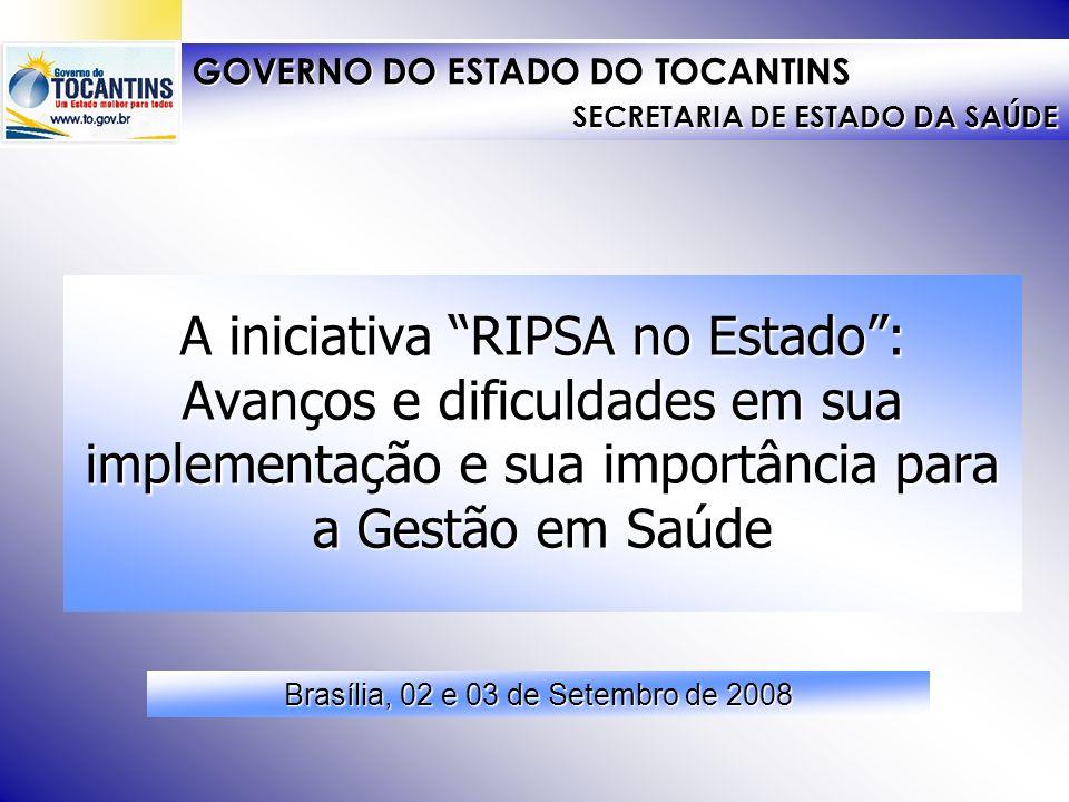 O processo de implementação da RIPSA a partir das etapas previstas na Metodologia RIPSA (Produto 5): A iniciativa RIPSA no Estado: Avanços e dificulda