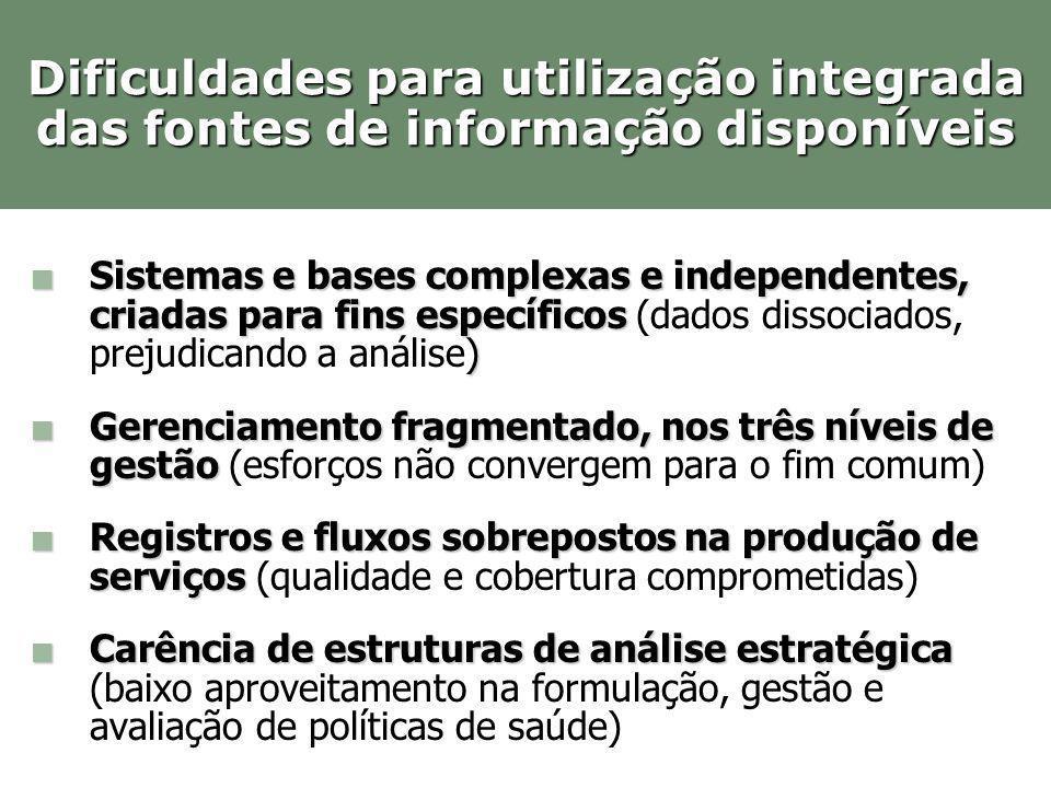 Sistemas e bases complexas e independentes, criadas para fins específicos ) Sistemas e bases complexas e independentes, criadas para fins específicos