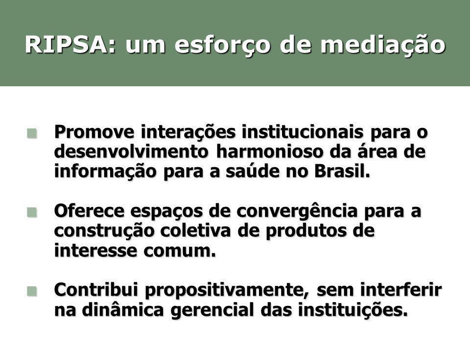 Promove interações institucionais para o desenvolvimento harmonioso da área de informação para a saúde no Brasil. Promove interações institucionais pa