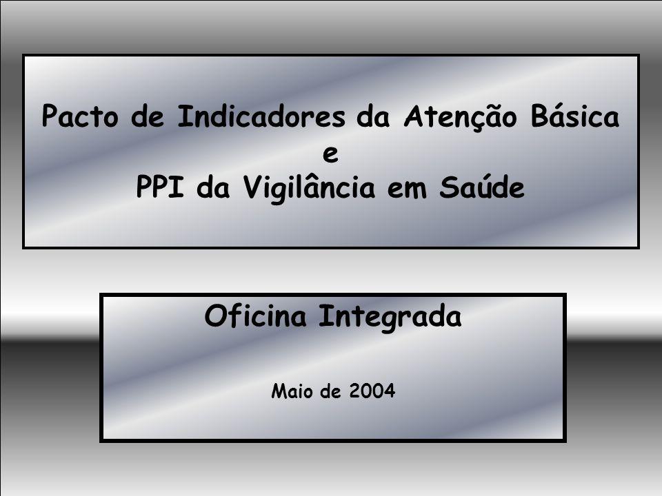 Pacto de Indicadores da Atenção Básica e PPI da Vigilância em Saúde Oficina Integrada Maio de 2004