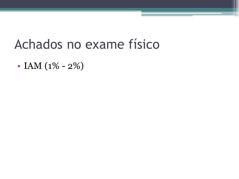 Achados no exame físico IAM (1% - 2%)