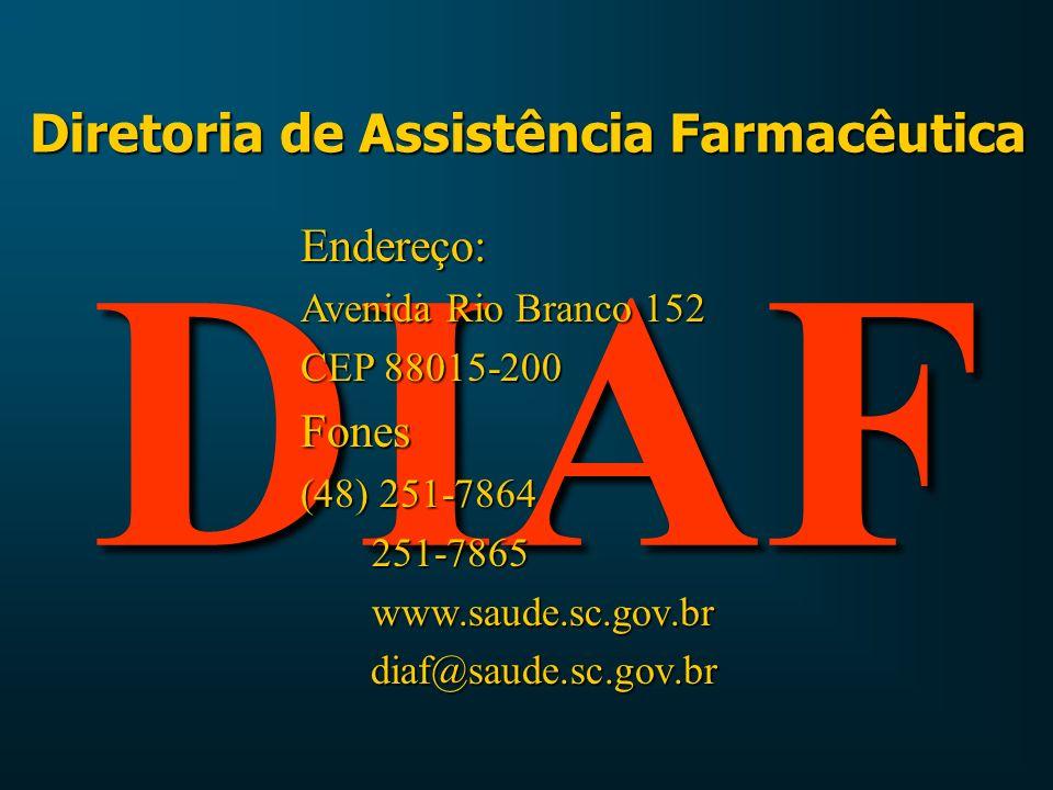 Descentralizando as ações da DIAF Medicamentos dos Programas Estratégicos 1 - Armazenamento dos Medicamentos.