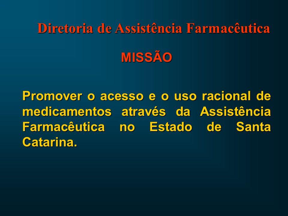 SEMINÁRIO PARA GERENTES DE SAÚDE DAS SECRETARIAS DE DESENVOLVIMENTO REGIONAL Junho de 2003 Estado de Santa Catarina Secretaria de Estado da Saúde Diretoria de Assistência Farmacêutica