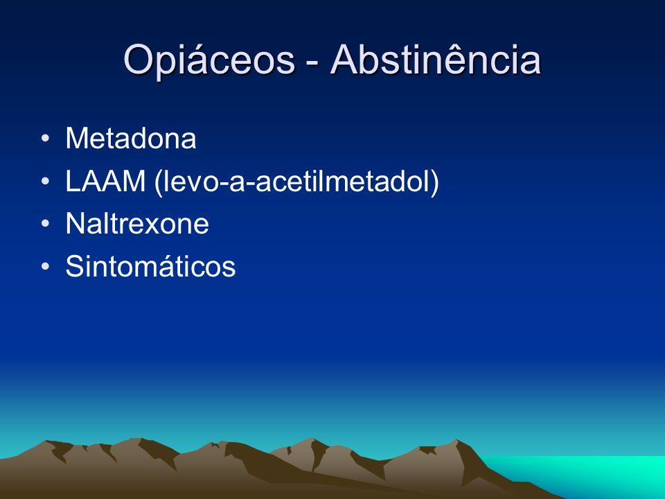Opiáceos - Abstinência Metadona LAAM (levo-a-acetilmetadol) Naltrexone Sintomáticos