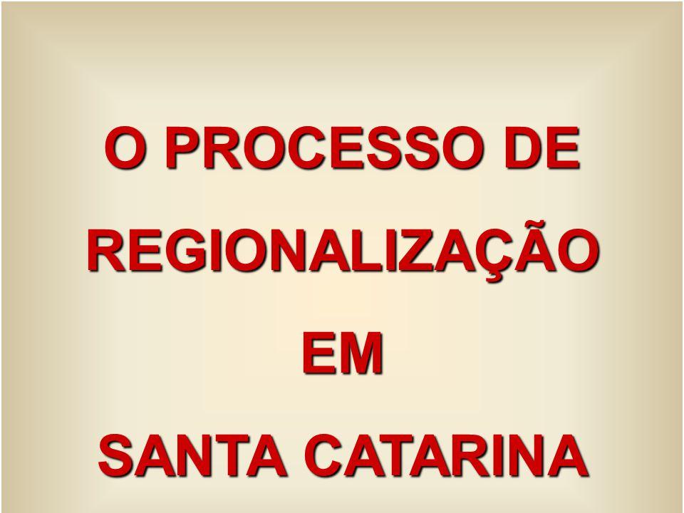 O PROCESSO DE REGIONALIZAÇÃOEM SANTA CATARINA