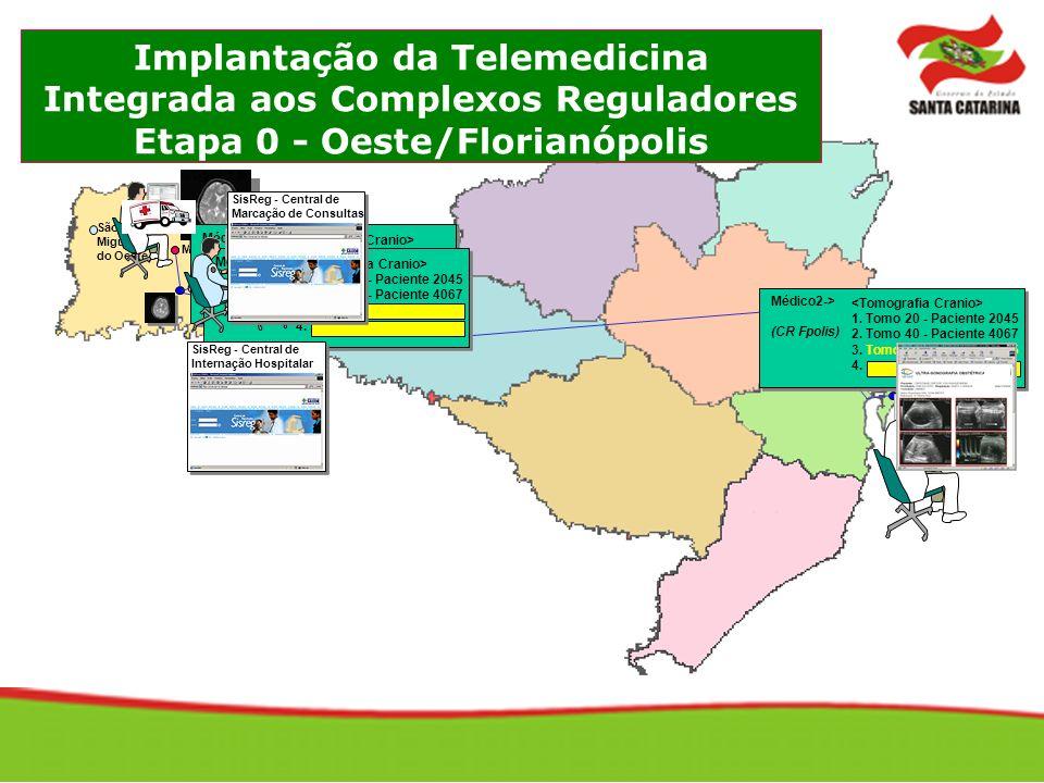 Implantação da Telemedicina Integrada aos Complexos Reguladores Etapa 0 - Oeste/Florianópolis