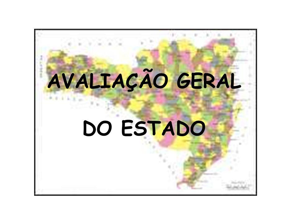 AVALIAÇÃO GERAL DO ESTADO