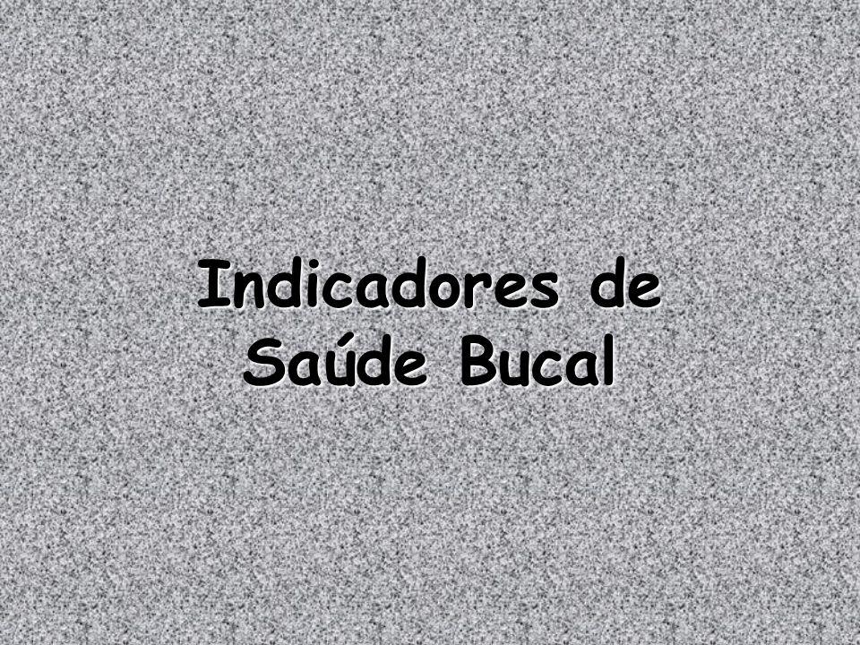 Indicadores de Saúde Bucal