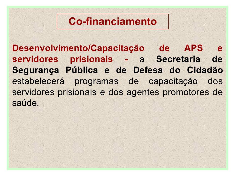 Desenvolvimento/Capacitação de APS e servidores prisionais - a Secretaria de Segurança Pública e de Defesa do Cidadão estabelecerá programas de capacitação dos servidores prisionais e dos agentes promotores de saúde.