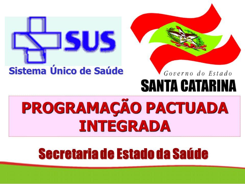 Secretaria de Estado da Saúde PROGRAMAÇÃO PACTUADA INTEGRADA Sistema Único de Saúde