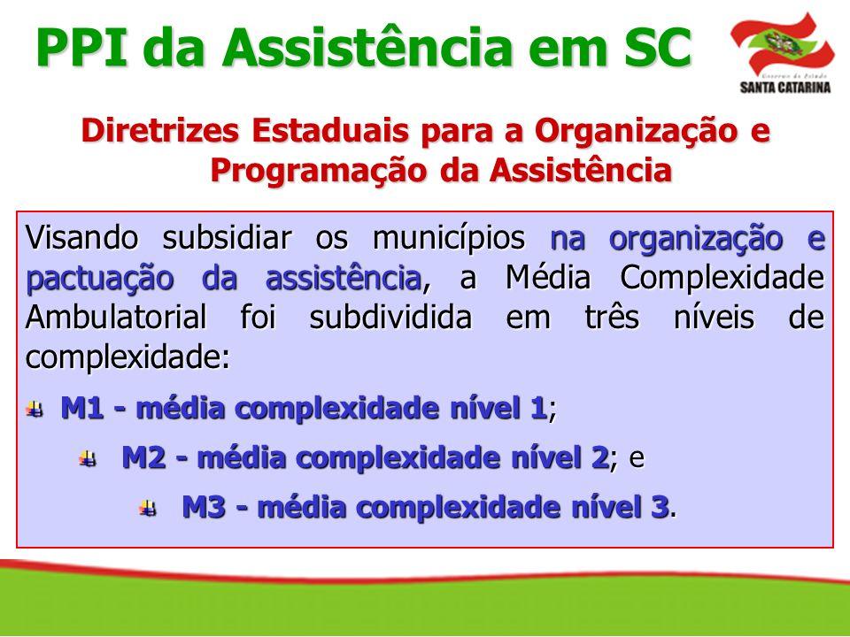 Visando subsidiar os municípios na organização e pactuação da assistência, a Média Complexidade Ambulatorial foi subdividida em três níveis de complex