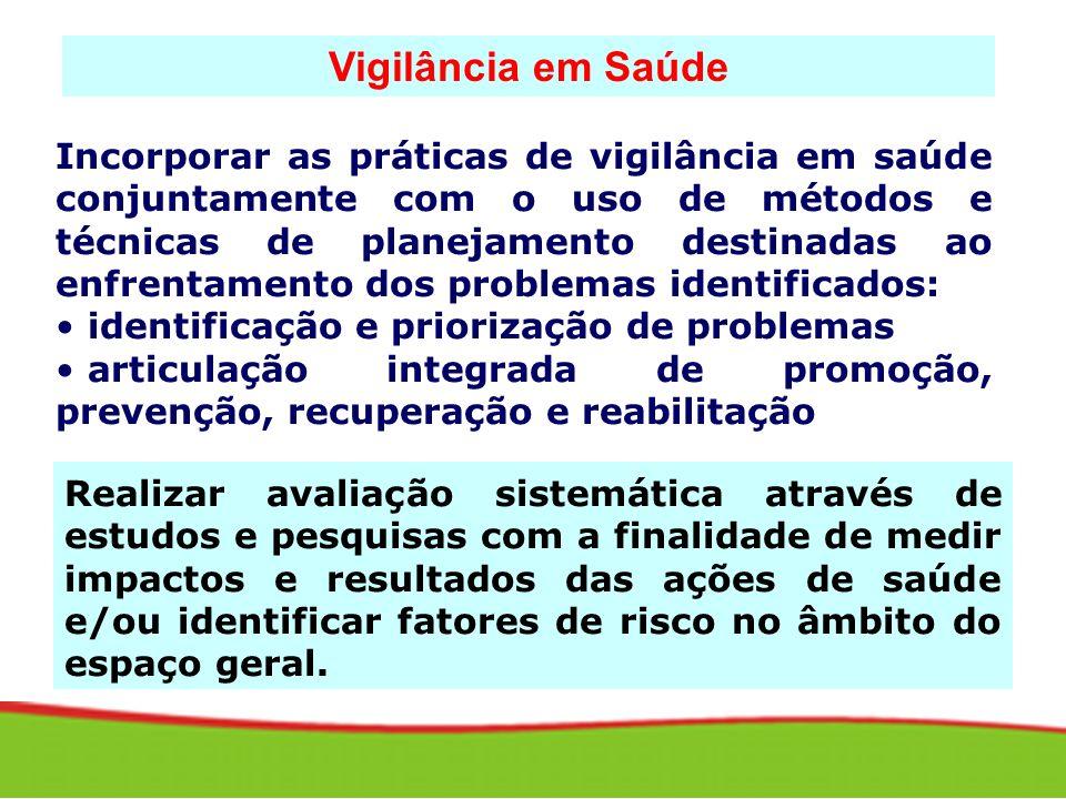 Incorporar as práticas de vigilância em saúde conjuntamente com o uso de métodos e técnicas de planejamento destinadas ao enfrentamento dos problemas