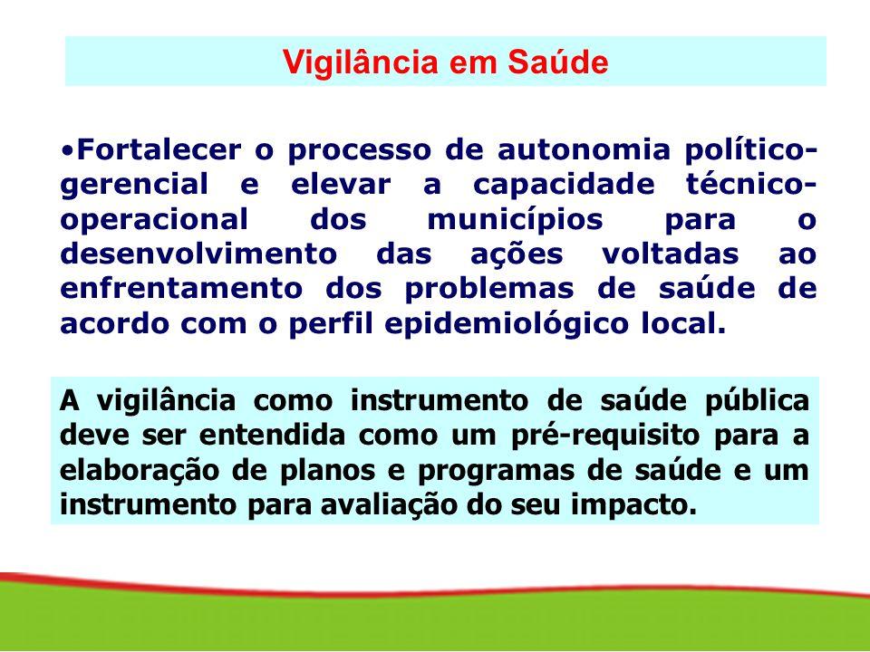 Fortalecer o processo de autonomia político- gerencial e elevar a capacidade técnico- operacional dos municípios para o desenvolvimento das ações volt