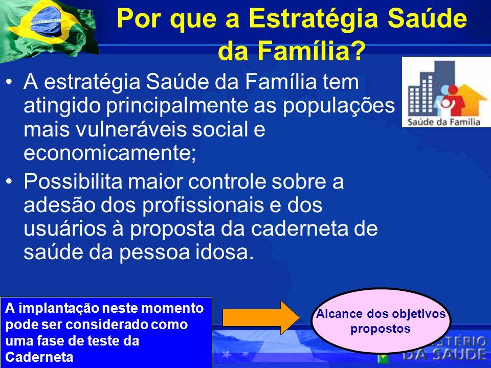 Por que a Estratégia Saúde da Família? A estratégia Saúde da Família tem atingido principalmente as populações mais vulneráveis social e economicament