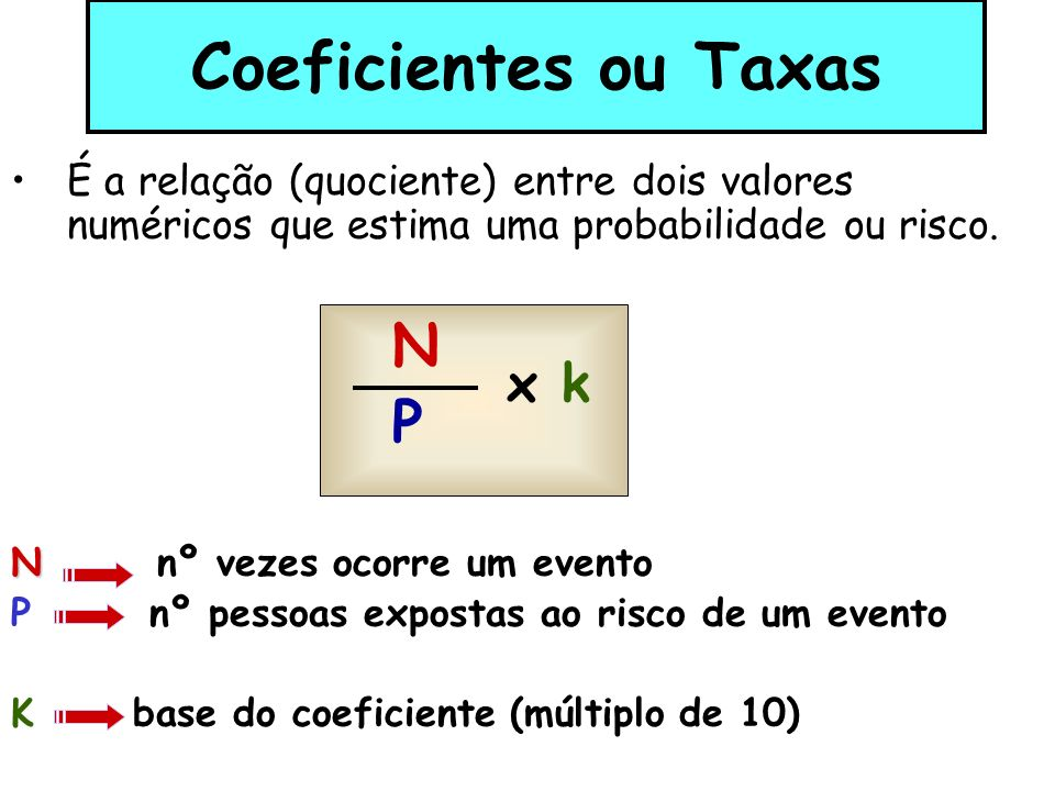 Números absolutos – representam o que se obtém ao contar diretamente uma série de eventos da mesma natureza.