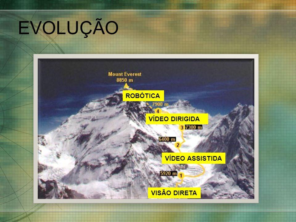 EVOLUÇÃO VISÃO DIRETA VÍDEO ASSISTIDA VÍDEO DIRIGIDA ROBÓTICA