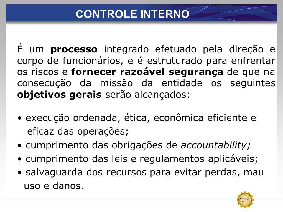 É um processo integrado efetuado pela direção e corpo de funcionários, e é estruturado para enfrentar os riscos e fornecer razoável segurança de que n