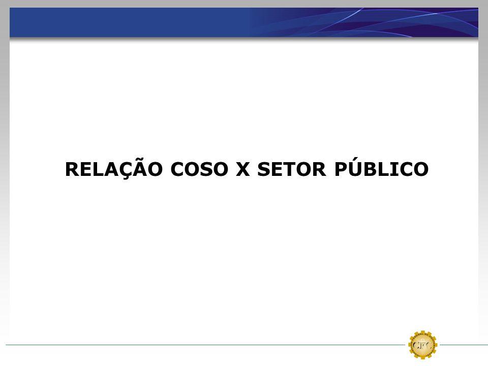 RELAÇÃO COSO X SETOR PÚBLICO