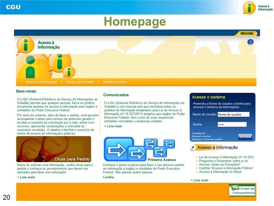 CGU 20 Homepage