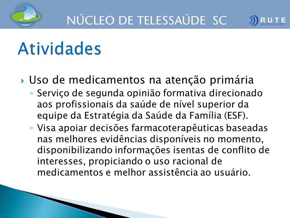 Uso de medicamentos na atenção primária Serviço de segunda opinião formativa direcionado aos profissionais da saúde de nível superior da equipe da Est
