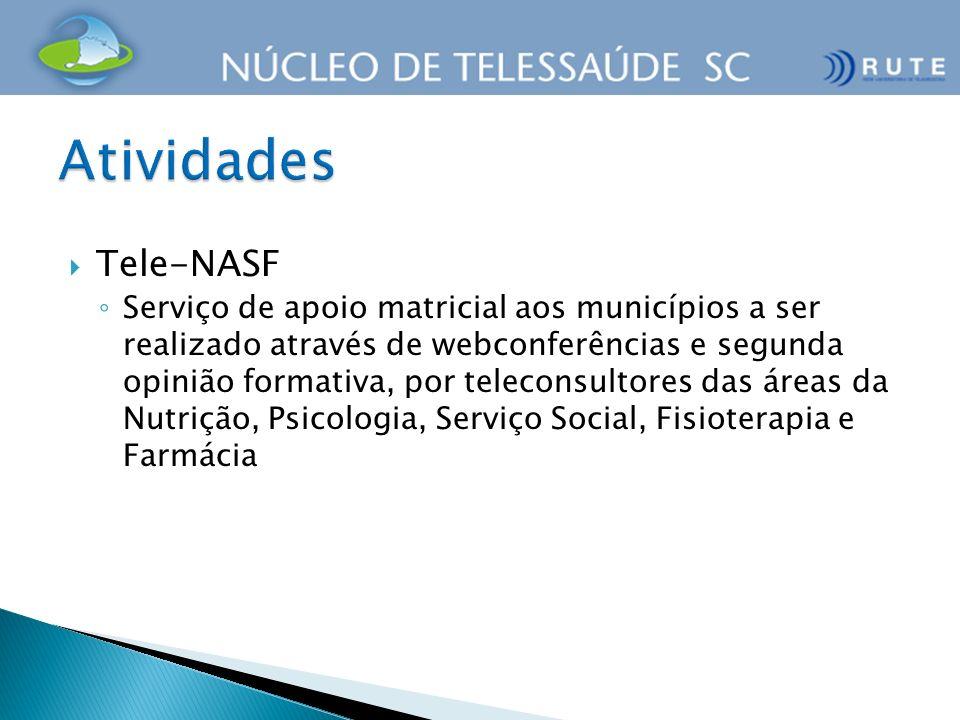 Tele-NASF Serviço de apoio matricial aos municípios a ser realizado através de webconferências e segunda opinião formativa, por teleconsultores das ár