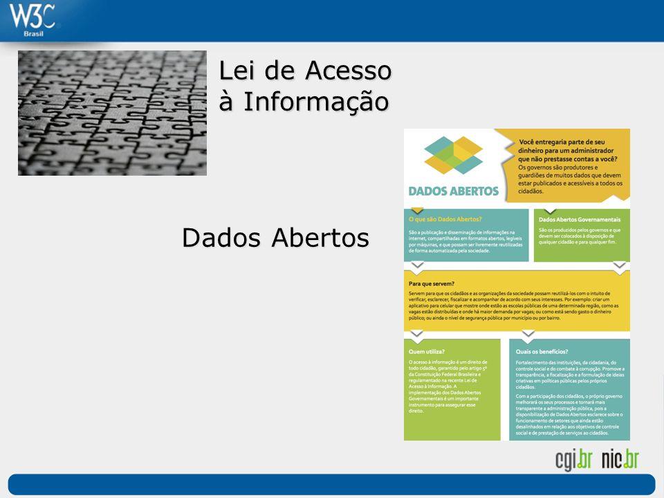 Lei de Acesso à Informação Dados Abertos