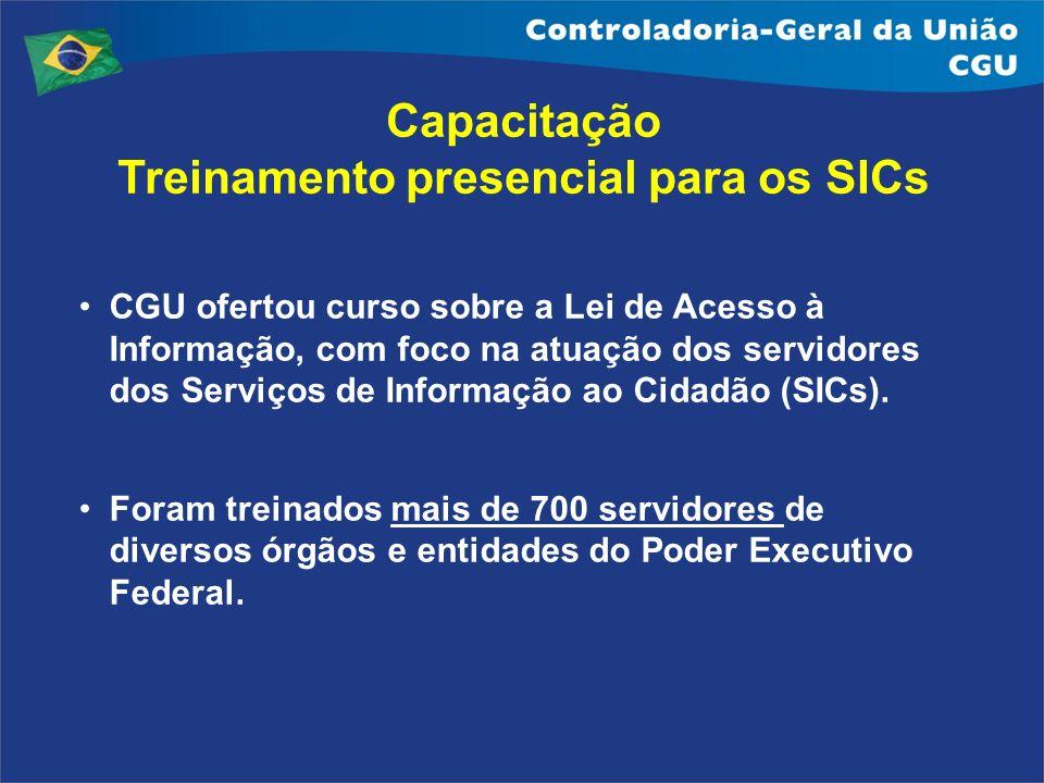 CGU ofertou curso sobre a Lei de Acesso à Informação, com foco na atuação dos servidores dos Serviços de Informação ao Cidadão (SICs). Foram treinados