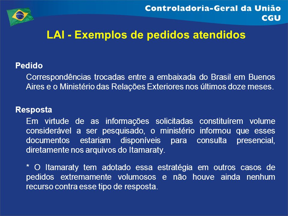 Pedido Correspondências trocadas entre a embaixada do Brasil em Buenos Aires e o Ministério das Relações Exteriores nos últimos doze meses. Resposta E