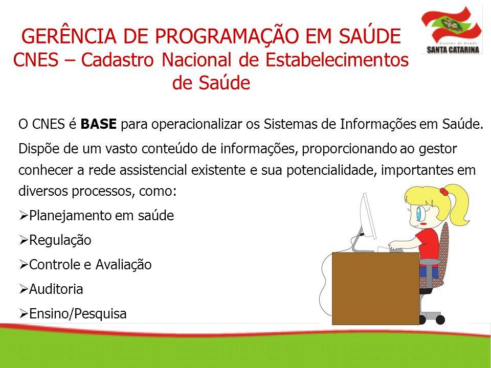 O CNES é BASE para operacionalizar os Sistemas de Informações em Saúde. Dispõe de um vasto conteúdo de informações, proporcionando ao gestor conhecer