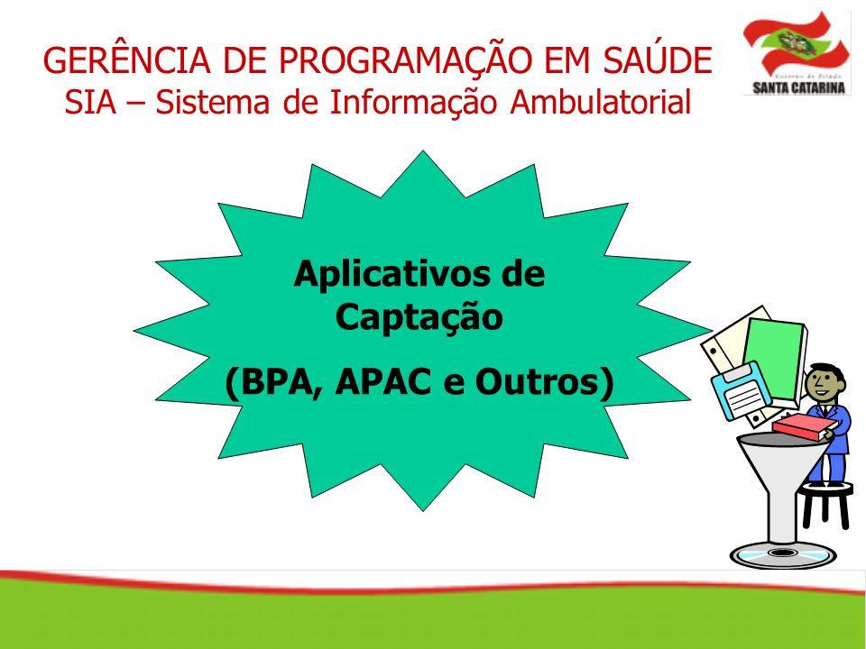 GERÊNCIA DE PROGRAMAÇÃO EM SAÚDE SIA – Sistema de Informação Ambulatorial Aplicativos de Captação (BPA, APAC e Outros)