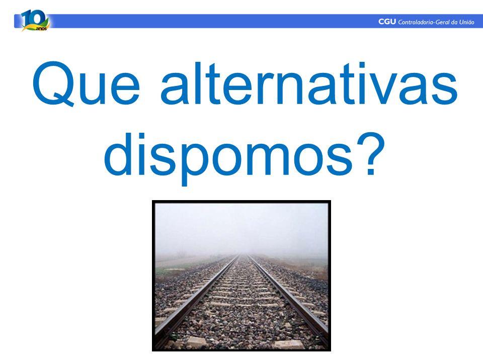 Que alternativas dispomos?