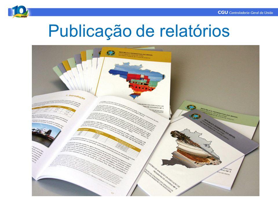 Publicação de relatórios