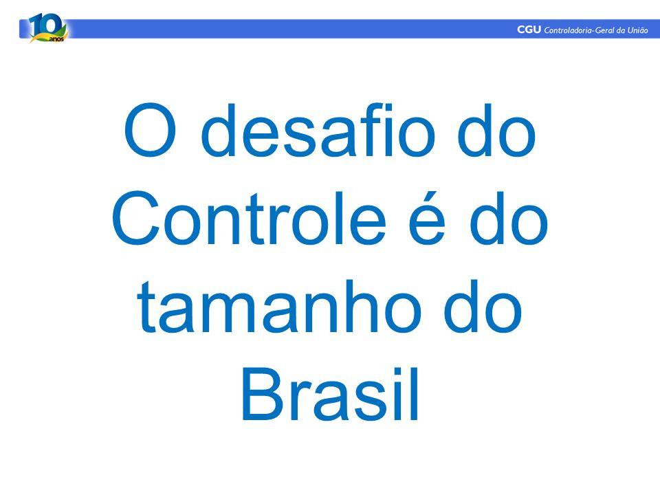 O desafio do Controle é do tamanho do Brasil