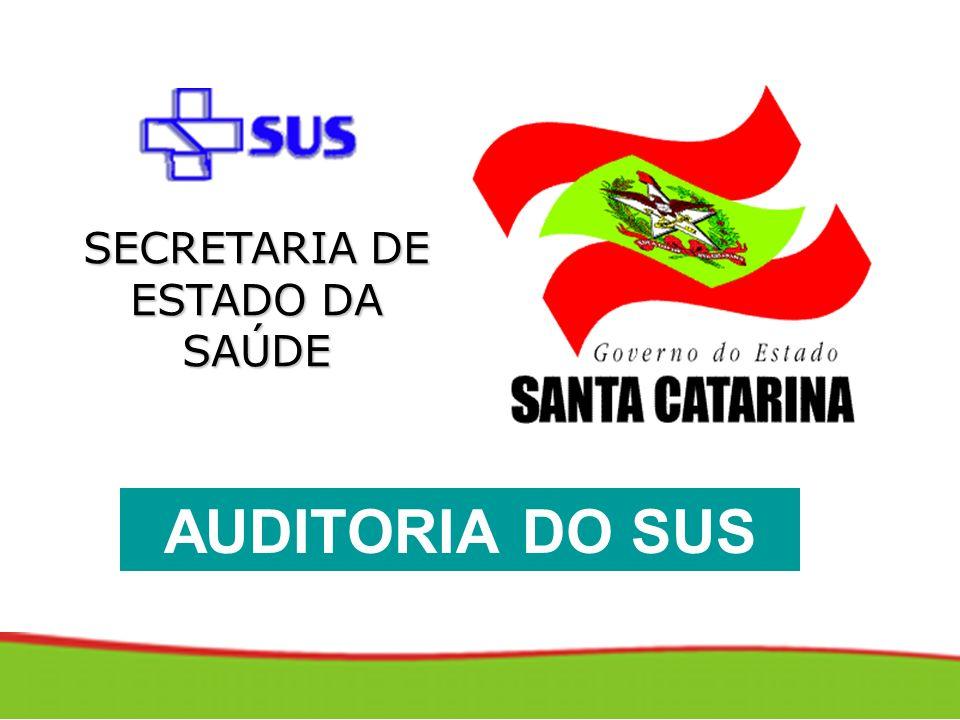 SECRETARIA DE ESTADO DA SAÚDE AUDITORIA DO SUS