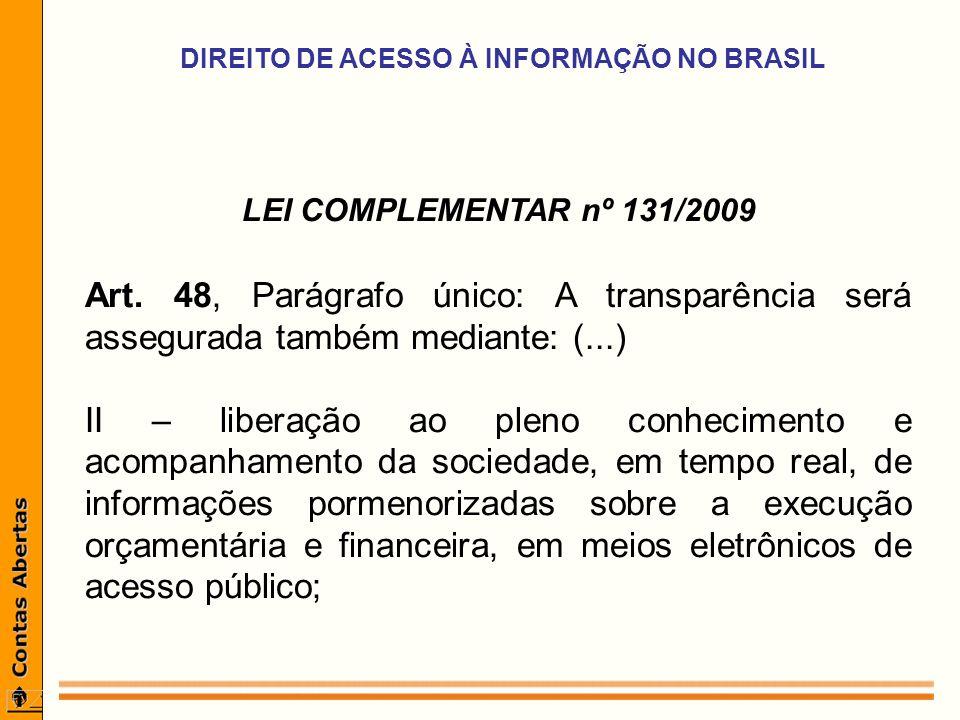LEI COMPLEMENTAR nº 131/2009 Art.