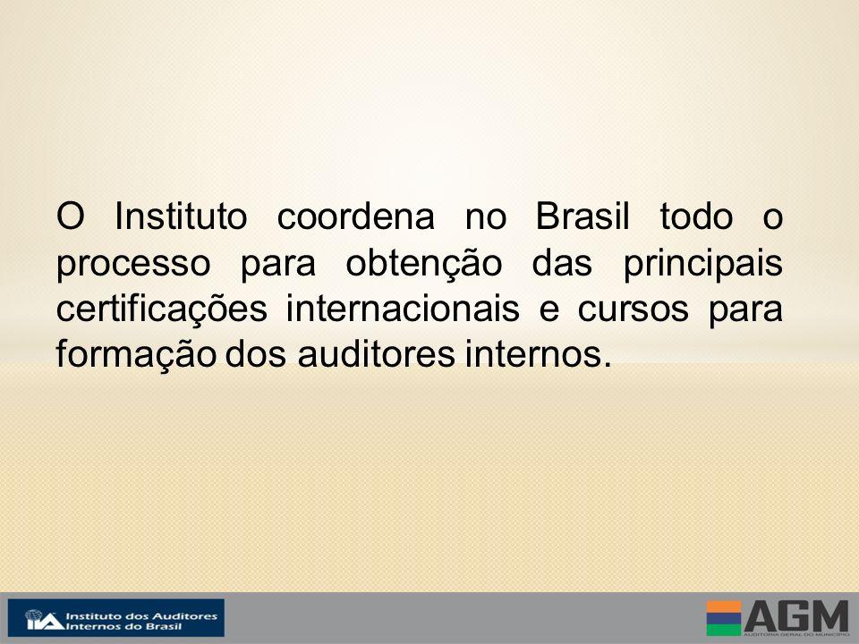 O Instituto coordena no Brasil todo o processo para obtenção das principais certificações internacionais e cursos para formação dos auditores internos.