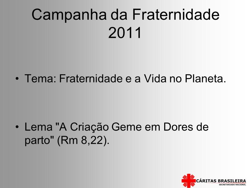 Campanha da Fraternidade 2011 Tema: Fraternidade e a Vida no Planeta. Lema