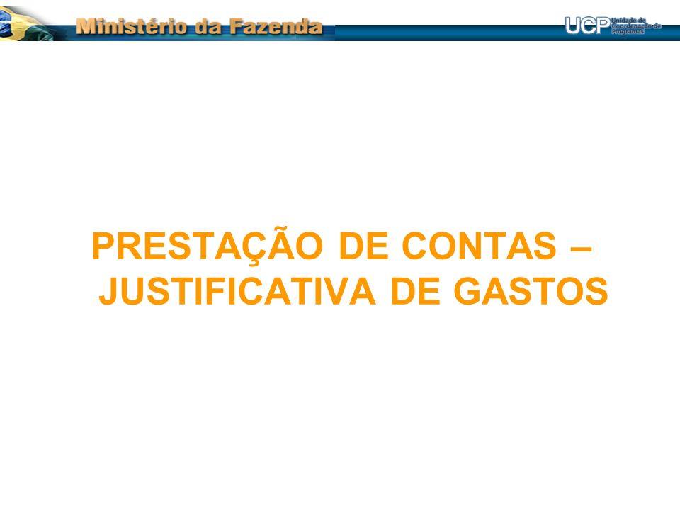PRESTAÇÃO DE CONTAS – JUSTIFICATIVA DE GASTOS