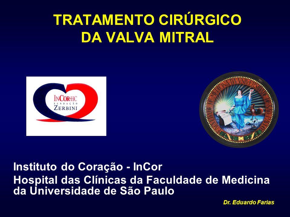 TRATAMENTO CIRÚRGICO DA VALVA MITRAL Instituto do Coração - InCor Hospital das Clínicas da Faculdade de Medicina da Universidade de São Paulo Dr. Edua
