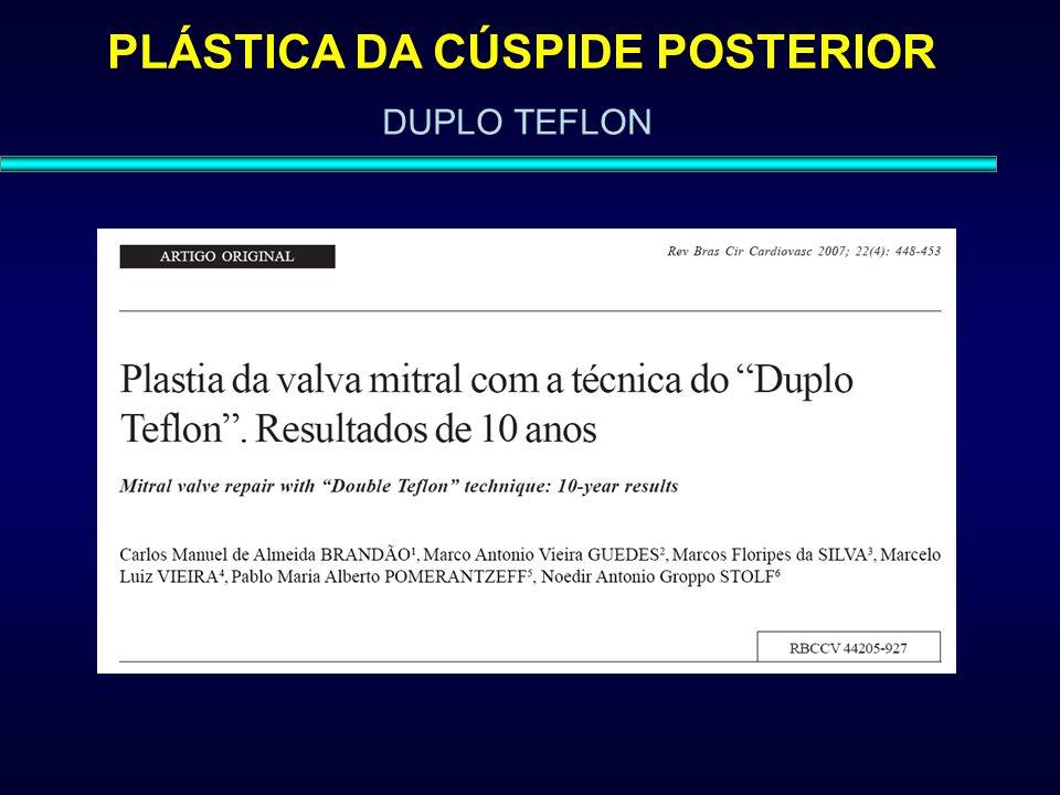 PLÁSTICA DA CÚSPIDE POSTERIOR DUPLO TEFLON